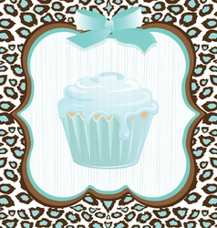 Cupcake birthday invitation vector