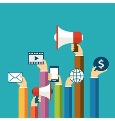 digital marketing concept flat design vector image vector image