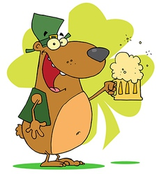 Happy St Patricks Day Bear vector image