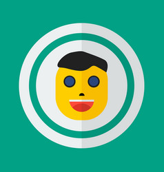 head of a man in a flat style icon man person vector image