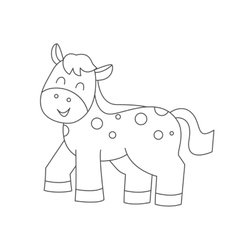 Horse for coloring book vector image vector image