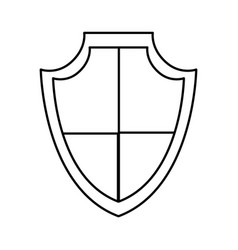 Isolated shield design vector