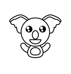 Koala animal toy outline vector