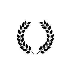 Laurel wreath reward on white background vector