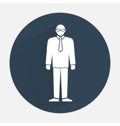 Man icon Office worker people symbol Standing vector image vector image