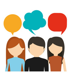 People having conversation icon image vector