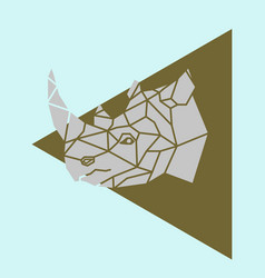 rhino rhinoceros head geometric vector image
