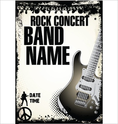 Rock concert background vector image vector image