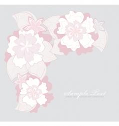 romantic pink flower backgroundoun vector image vector image