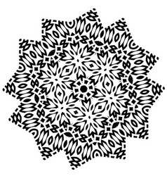 Stylized star flower mandala vector