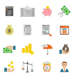 Tax icon flat vector image