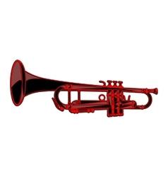 Template-trumpet vector