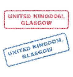 United kingdom glasgow textile stamps vector