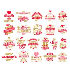 Valentine designs set vector