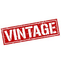 vintage square grunge stamp vector image vector image