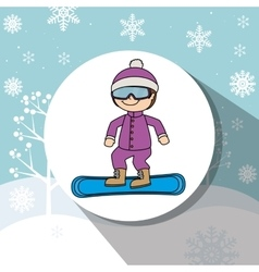 Winter sport and wear accesories vector image vector image