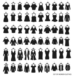 Women outerwear and dresses on a white background vector