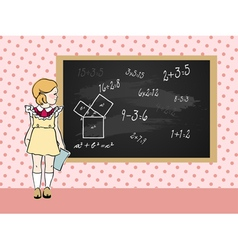 Maths girl vector