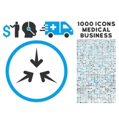 Impact arrows icon with 1000 medical business vector