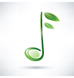 Green musical note abstract background vector