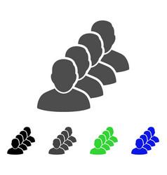 People queue flat icon vector