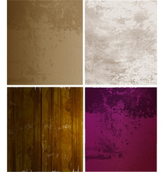 Scrapbooking set old paper textures vector