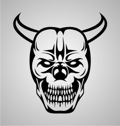 Devil skull tattoo vector