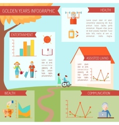 Senior lifestyle infographics vector
