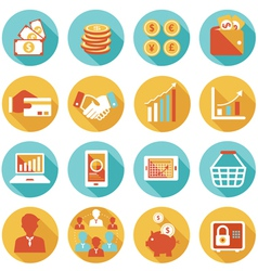 Business and e commerce icons set vector
