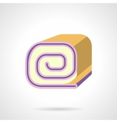 Biscuit roll flat color icon vector