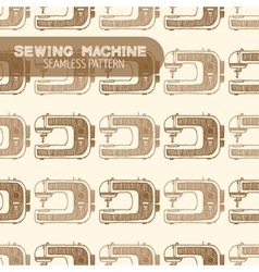 Sewing machine vintage style vector
