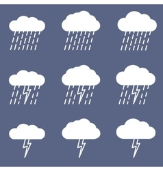 Set of rainy icon for weather or climate project vector