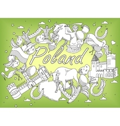 Poland coloring book vector