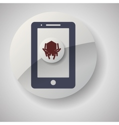 Technology design security system icon isolated vector