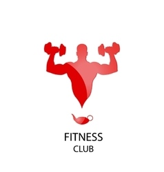 Fitness club red icon vector