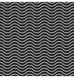 Wave background seamless pattern black vector image