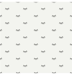 Hand drawn seamless pattern with close eyes vector