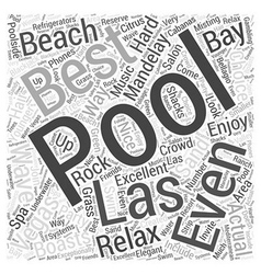 Best Pools in Las Vegas Word Cloud Concept vector image