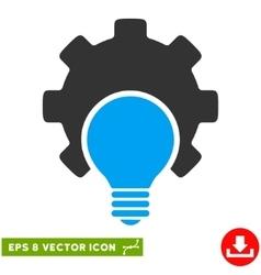 Bulb configuration gear eps icon vector