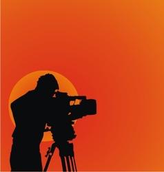 Cameraman Silhouettes vector image vector image