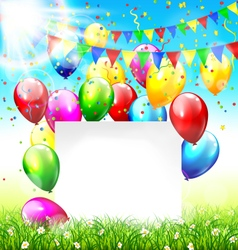 Celebration background with frame buntings vector image