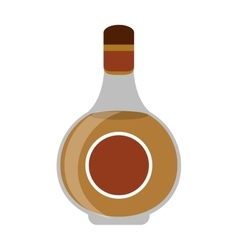 Cognac bottle alcochol drink style vector