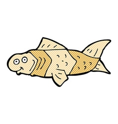 Comic cartoon funny fish vector