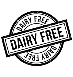 Dairy Free rubber stamp vector image