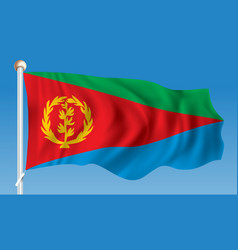 flag of eritrea vector image