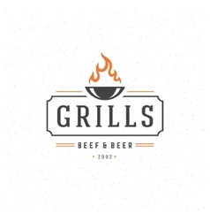 Grill design element in vintage style vector