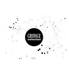 Grunge ink texture watercolor splashes vector