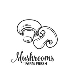 Hand drawn mushrooms icon vector