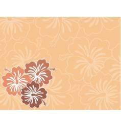 honolulu flower vector image vector image