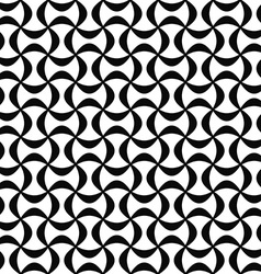 Monochrome abstract seamless curved shape pattern vector image
